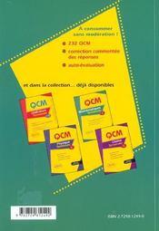 Qcm Mathematiques Terminale S Nouveau Programme Une Simulation Pour Le Bac Qcm Pour Concours - 4ème de couverture - Format classique