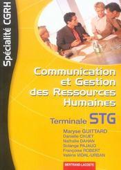 Cgrh Terminale Stg - Intérieur - Format classique
