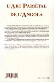 L'Art Parietal De L'Angola - 4ème de couverture - Format classique
