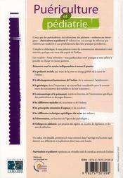 Puériculture et pédiatrie (7e édition) - 4ème de couverture - Format classique