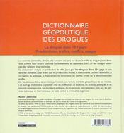 Dict. geopolitique drogues - 4ème de couverture - Format classique