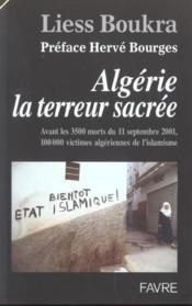 Algerie la terreur sacree - Couverture - Format classique