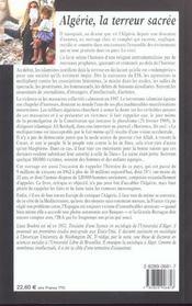 Algerie la terreur sacree - 4ème de couverture - Format classique