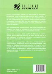 Les outils de la communication pour les entreprises, les associations et les col - 4ème de couverture - Format classique