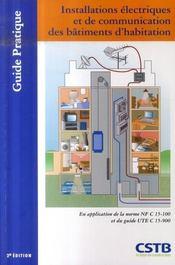 Installations electriques et de communication des batiments d'habitation - Intérieur - Format classique