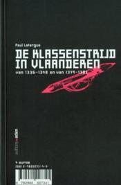 Luttes de classes en flandres - 4ème de couverture - Format classique