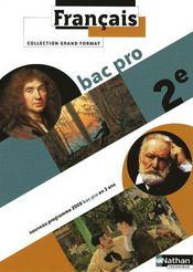 Français ; 2nde bac pro ; livre de l'élève (édition 2009) - Couverture - Format classique