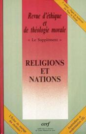 Le Supplement Sup228. Religions Et Nations - Couverture - Format classique