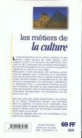 Les Metiers T.235 ; Culture - 4ème de couverture - Format classique