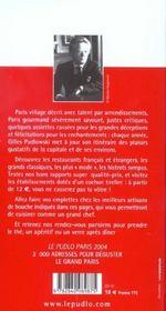Le Pudlo Paris - 4ème de couverture - Format classique