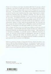 Primo Levi - 4ème de couverture - Format classique