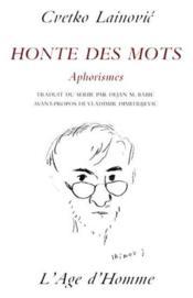 Honte Des Mots - Couverture - Format classique