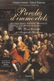 Paroles immortels coffret 2 volumes - Couverture - Format classique