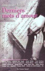 Derniers mots d'amour - Intérieur - Format classique