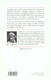 Derniers mots d'amour - 4ème de couverture - Format classique