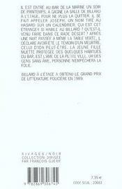 Billard A L'Etage - 4ème de couverture - Format classique