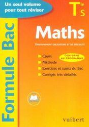 Mathematiques Terminale S - Intérieur - Format classique
