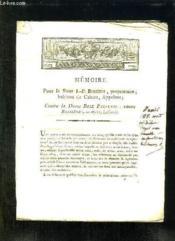 Memoire Pour Le Sieur Jp Bessieres Contre La Dame Rose Palleuil. - Couverture - Format classique