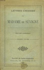 Lettres Choisies. Premier Volume. - Couverture - Format classique
