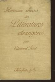Morceaux Choisis Des Litteratures Etrangeres - Couverture - Format classique