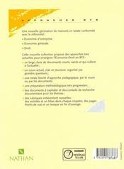 Economie Des Entreprises Bts T.1 - 4ème de couverture - Format classique