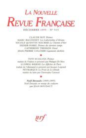 La n.r.f. 515 (decembre 1995) - Couverture - Format classique