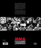 MMA ; les plus grandes légendes - 4ème de couverture - Format classique