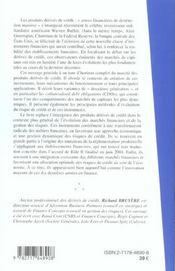 Les Produits Derives De Credit - 4ème de couverture - Format classique