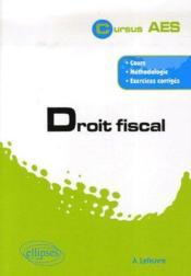 Droit fiscal - Couverture - Format classique