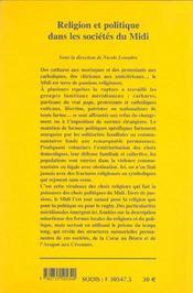 Religion Et Politique Dans Les Societes Du Midi - 4ème de couverture - Format classique