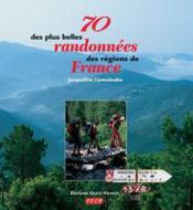 70 des plus belles randonnées des régions de france - Couverture - Format classique