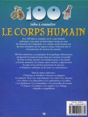 100 INFOS A CONNAITRE ; le corps humain - 4ème de couverture - Format classique