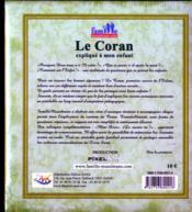Le Coran expliqué à mon enfant t.2 - 4ème de couverture - Format classique