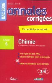 Annales Corrigees T.11 ; Enseignement Obligatoire Et Specialite (édition 2006) - Intérieur - Format classique