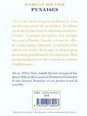 Punaises - 4ème de couverture - Format classique