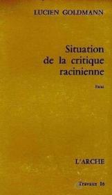 Situation de la critique racinienne - Couverture - Format classique
