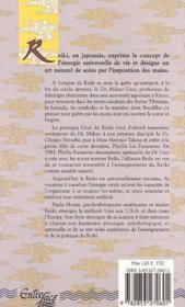 Reiki seoigner - 4ème de couverture - Format classique
