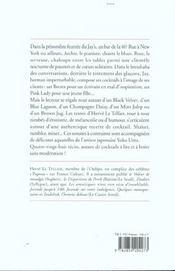 Sonates de bar - 4ème de couverture - Format classique