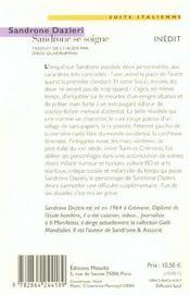 Sandrone se soigne - 4ème de couverture - Format classique