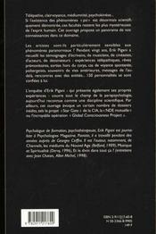 Psi - enquete sur les phenomenes paranormaux - 4ème de couverture - Format classique