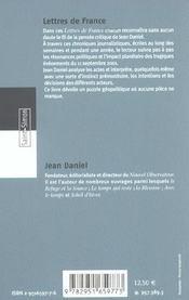 Lettres De France - 4ème de couverture - Format classique