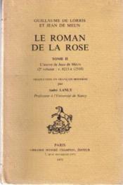 Le roman de la rose tome 2 - Couverture - Format classique