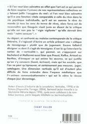 Verticalites De La Litterature - 4ème de couverture - Format classique