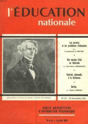 L'Education Nationale N°33 - Couverture - Format classique