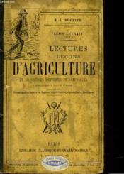 Lectures-Lecons D'Agriculture Et De Sciences Physiques Et Naturelles Appliquees A La Vie Rurale - Couverture - Format classique