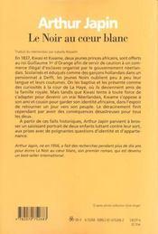 Le Noir Au Coeur Blanc - 4ème de couverture - Format classique