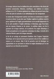L'Anglais Idiomatique Methodologie De La Traduction Et De L'Expression A L'Ecrit Et A L'Oral - 4ème de couverture - Format classique