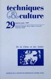 Revue Techniques Et Cultures N.29 ; De La Chine Et Des Andes - Couverture - Format classique