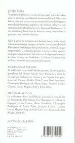 Jordi Ribes - 4ème de couverture - Format classique