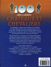 100 Infos A Connaitre ; Châteaux Et Chevaliers - 4ème de couverture - Format classique